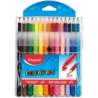 "Набор для рисования Maped ""Color'Peps"" 12 фломастеров+15 карандашей, пласт. футляр"