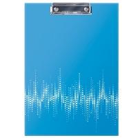 """Планшет с зажимом Berlingo """"Neon"""" А4, ламинированный, неоновый голубой"""