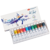 Акварель Белые ночи, художественная, 12 цветов*10мл, пластик/картон IWS