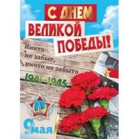 Плакат  9 Мая С Днем Великой Победы 420*594(5822)