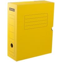 Короб архивный с клапаном OfficeSpace, микрогофрокартон, 100мм, желтый, до 900л.