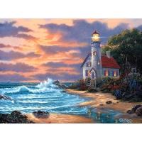 Набор ДТ Алмазная мозаика Дом с маяком у залива 30*40см