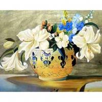 Набор ДТ Алмазная мозаика Нежный букет с белыми лилиями 30*40см