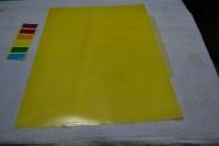 Уголок А4 3отд, 0,15мм, Бюрократ прозрачный, желтый (E356yel) (Бюрократ)