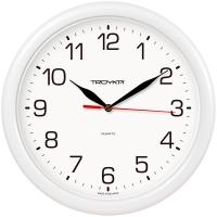 Часы настенные ход плавный, Troyka , круглые, 24*24*3, белая рамка