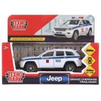 Модель  JEEP GRAND CHEROKEE Полиция белый Технопарк в кор.
