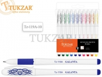 Набор гелевых ручек: корпус и колпачок белые, 10 цветов /флуоресцентные/