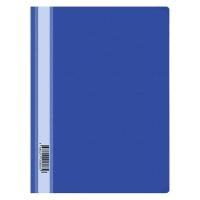 Папка-скоросшиватель пластик, А4, 160мкм, синяя с прозр. верхом