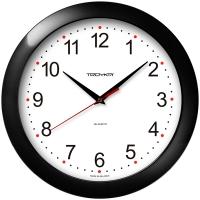 Часы настенные ход плавный, Troyka , круглые, 29*29*3,5, черная рамка