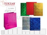 Пакет подарочный, голография 25.5*35*11, 6 цветов ассорти