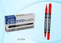 Маркер: 2-х сторонний, чёрный корпус, цветные колпачки; с одной стороны-острый наконечник-1,0mm, с другой-супертонкий-0,5mm, красный.