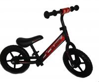 """Велобег """"Slider"""" колеса EVA 12 дюймов с пластиковыми дисками, регулируемое по высоте сиденье, мягкая накладка на руль, цвет - матовый черный, размер велобега 83*60*41 см. в/к 53*16*30 см."""