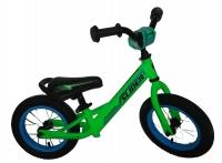 """Велобег """"Slider"""" надувные шины 12 дюймов со спицами, регулируемые по высоте и углу наклона руль и сиденье, цвет - матовый зеленый, размер велобега 84*55*42 см. в/к 63*16*31 см."""
