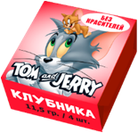 Жевательные конфеты TOM and JERRY со вкусом МИКС, 11,5гр/4 шт.
