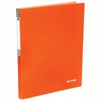 "Папка на 4-х кольцах Berlingo ""Neon"", 25мм, 700мкм, неоновая оранжевая"