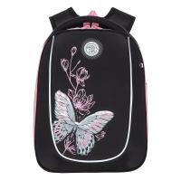 Рюкзак школьный /1 черный - розовый