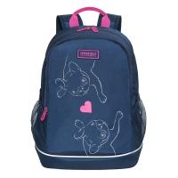 Рюкзак школьный /1 темно-синий