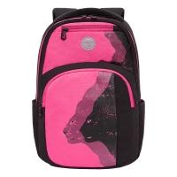 Рюкзак /1 черный - розовый