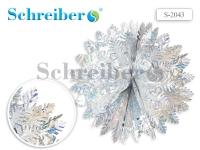 Фольгированное украшение, 47х25 см, цвет серебряный