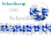 Растяжка фольгированная, цвет бело-голубой, диаметр 2см, длина 2 м
