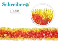 Растяжка фольгированная,цвет золотисто-красный, диаметр 25 см. д 2м