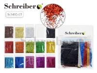 Набор цветных блесток в пакетиках по 5г., 15цв.(цена за набор)