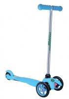 """Самокат трехколесный """"Scorpion"""", цв. оранж/синий/голубой, Размер самоката 55*21,5*67см. подшипники ABEC5. Алюминиевый руль. Колеса 120 и 80 мм, в/к(Максимальная нагрузка: 25 кг)"""