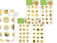 Набор объемных наклеек для скрапбукинга, 12х18 см