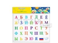 Магнитный русский алфавит, 35 магнитов, 17х23 см