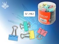 Зажимы для бумаг 15 мм, цветные, ассорти(цена за 60шт)