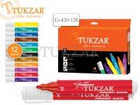 Набор маркеров перманентных FLAGMAN, 12 цветов, пулевидный наконечник, 2 мм, упаковка - картонная коробка