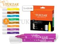 Набор маркеров перманентных FLAGMAN, 8 цвета, пулевидный наконечник, 2 мм, упаковка - картонная коробка