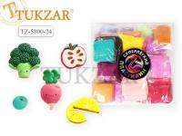 Пластилин Супер легкий  24 цвета, в пакетиках, 290 гр