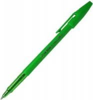 Ручка шариковая Stabilo, 0.5мм, непрозрачный корпус, колпачок с клипом, стержень зеленый
